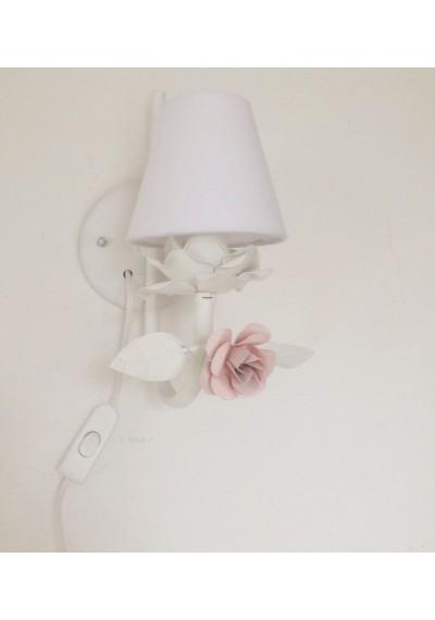 Abajur de parede Lilie 1 lâmpada com fiação e interruptor