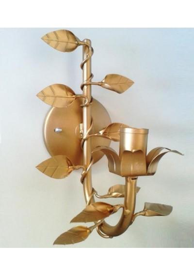 Arandela de parede dourada 1 lâmpada
