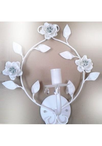 Arandela de parede com flores 1 lâmpada