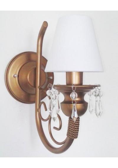 Lustre de parede dourado 1 lâmpada