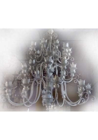 Lustre 18 lampadas com 3 andares