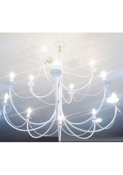 Lustre 12 lâmpadas grande dois andares para loja evento sala grande