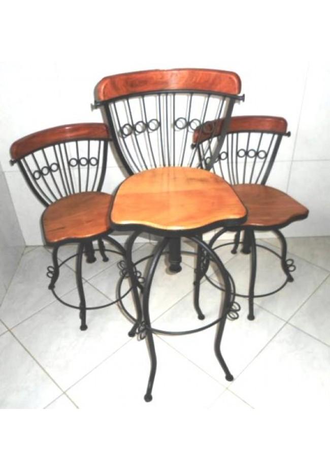 Banqueta alta rustica for Mesas para bar rusticas
