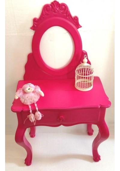 Mini Penteadeira Provençal Infantil Cor de rosa