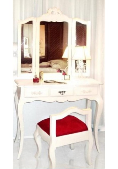 Penteadeira provençal chamonix 3 espelhos