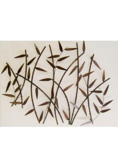 Escultura de parede  bambu em ferro