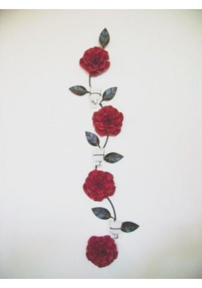 Folhagem em ferro com rosas
