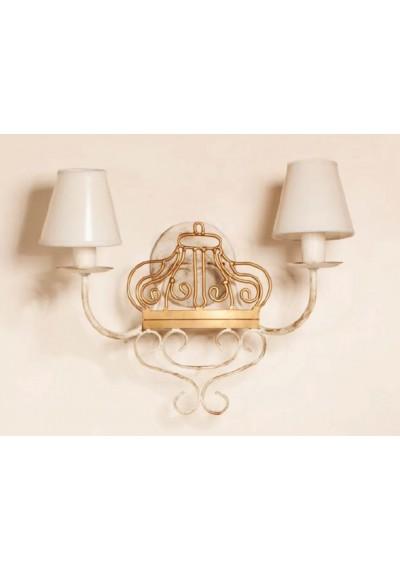 Lustre de parede duas lampadas com coroa