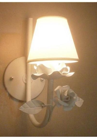 Arandela de parede 1 braço com flor