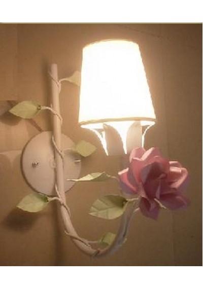 Arandela Provence Rosa 1 lâmpada  ( lustre de parede)