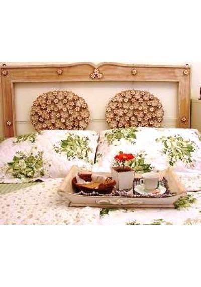 Cabeceira rústica para cama box Casal