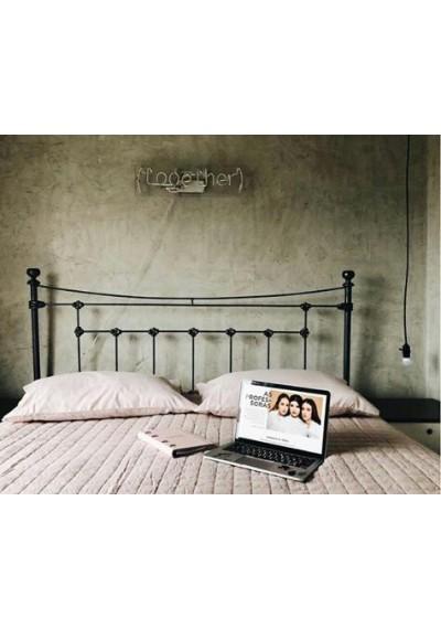 Cabeceira  de ferro Paris para cama box