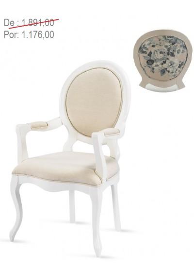 Cadeira medalhão provençal COM braços