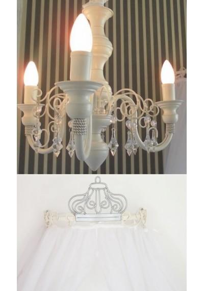 Acessorios iluminacao para quarto de bebe Menino príncipe:Lustre+ dossel.