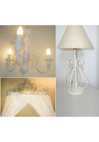 COMBO Lustre branco 3 lâmpadas