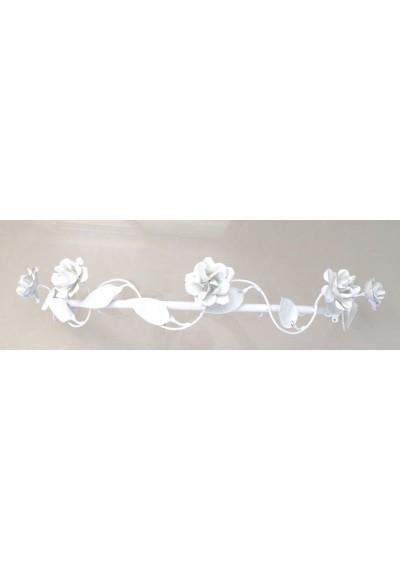 Dossel Paris 60  branco com flores cm em ferro