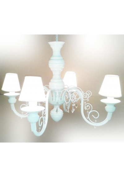 Lustre em ferro Chamon  com 4 lampadas e cúpulas