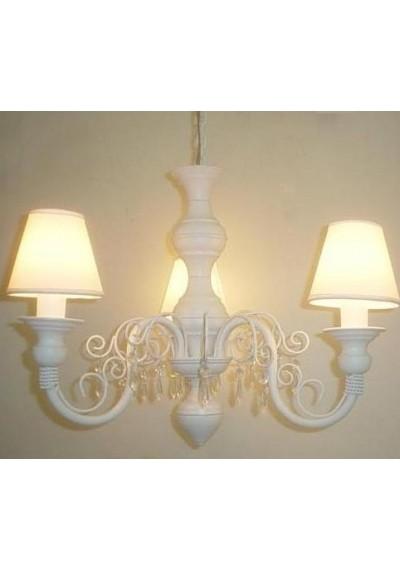 Lustre infantil com arabescos 3 lampadas