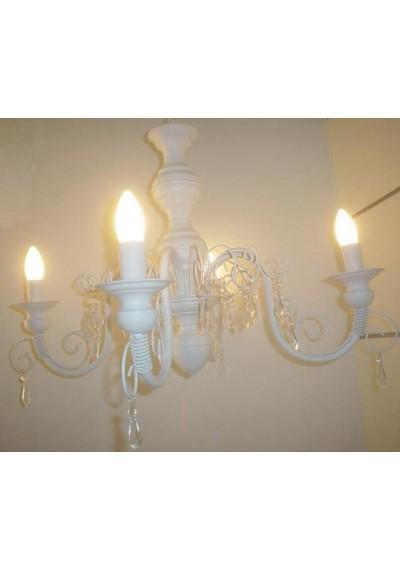 Lustre em ferro chamon torneado 4 lampadas grande 68 diam