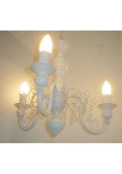 Lustre Clássico 3 lampadas branco Chamon