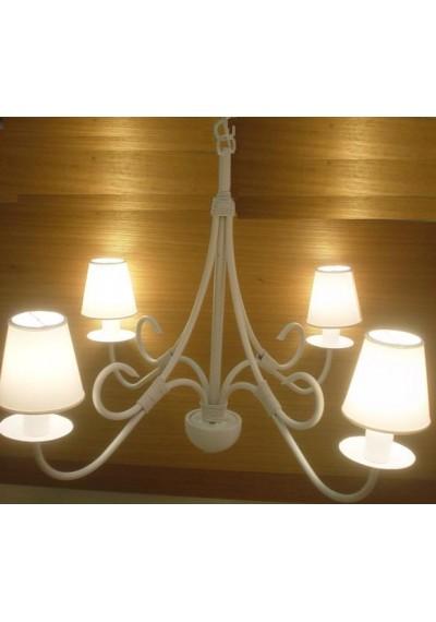 Lustre rustico em ferro 4 lampadas