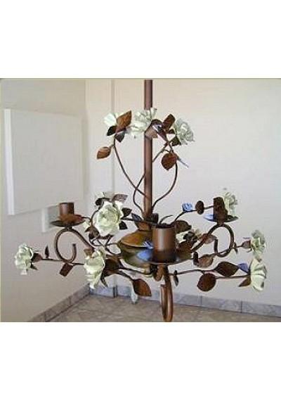 Lustre em ferro colonial flores
