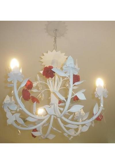 Lustre em ferro floral