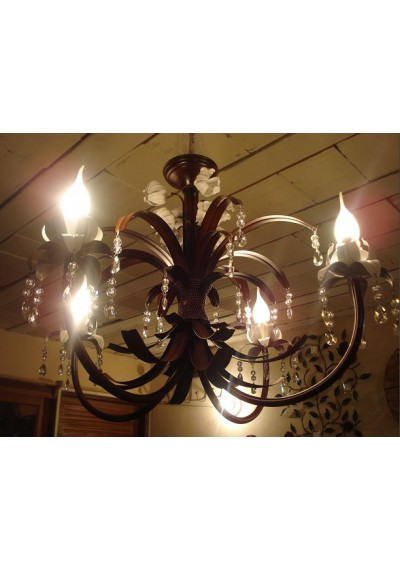 Lustre em ferro 4 lampadas