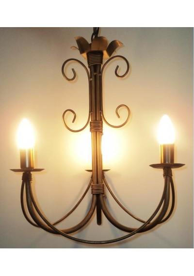 Lustre em ferro Toulouse 3 lâmpadas