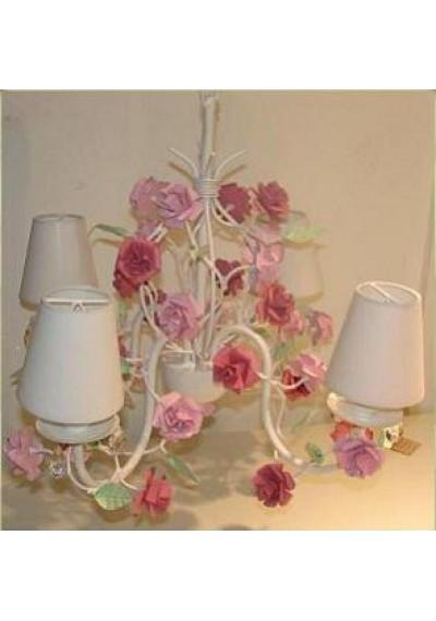 Lustre delicado rosa