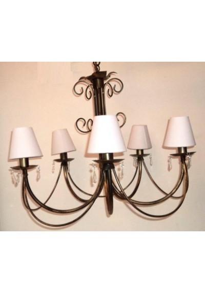 Lustre em ferro Toulouse 5 lampadas