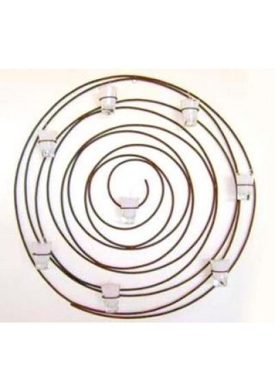 Painel de ferro com velas espiral caracol