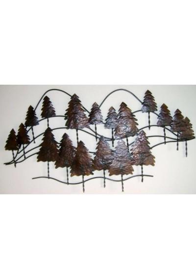 Painel em ferro Montanha pinheiro