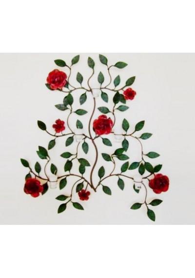 Paisagem em ferro arandela flores e velas