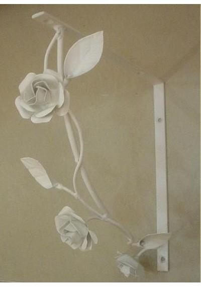 Mão francesa com flores para suporte da prateleira