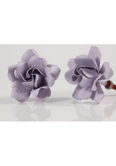 Puxador de flor lilás