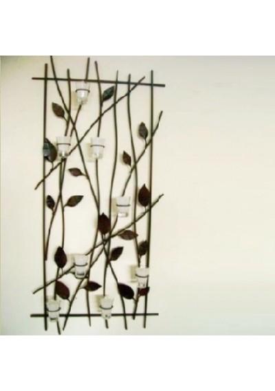 Quadro em ferro bambu com velas