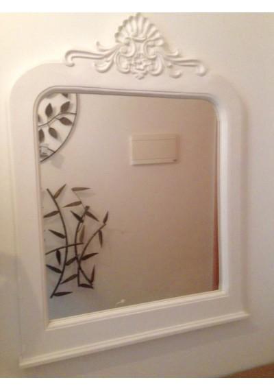 Moldura  Espelho Lyon  branco provençal