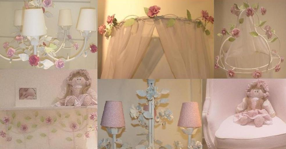 Acessórios quarto bebe floral e unissex